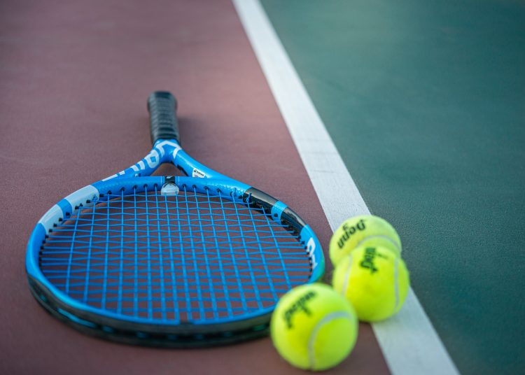 tennis racquets with balls